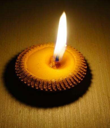 candle light: burning candle Stock Photo