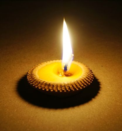 burning candle photo