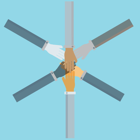 business people joined hands ,vector Vector