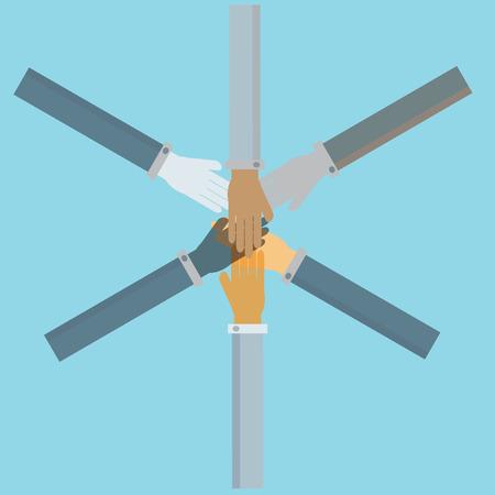 manos unidas: la gente de negocios se dieron la mano, vector