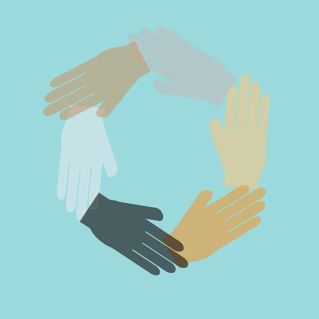 symbol hand: Team-Symbol Hand verbindet, vector Illustration