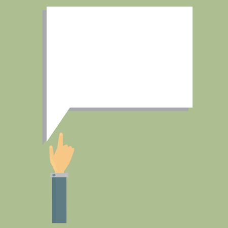 business hand:  business hand push Frame blank Illustration