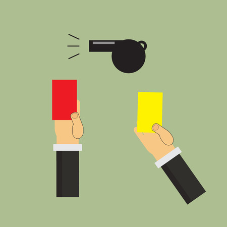 red and yellow card: f�tbol, ??�rbitro del f�tbol espect�culo roja tarjeta amarilla Vectores