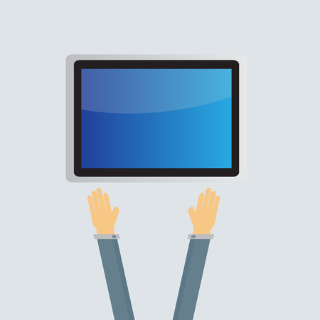 multi touch: business tablet screen concept Vector