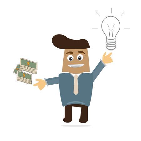 Business cartoon vector  Vector