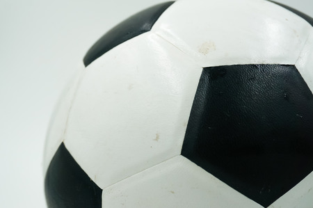 Old football on white background