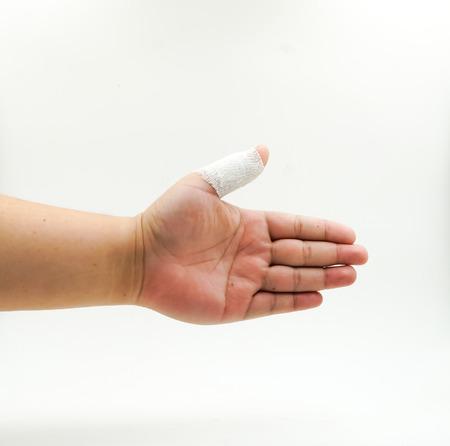 Splint Gebrochenen Knochen Der Hand In Weißem Hintergrund Verletzte ...