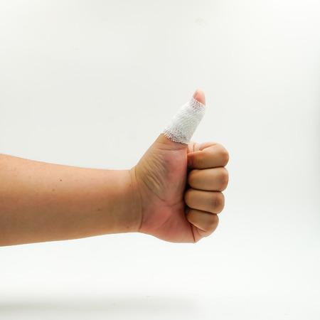 splint: dedo entablillado Lesionado mano hueso roto