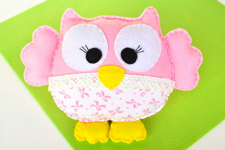 tinkering: Felt owl - how to make an owl handmade toy
