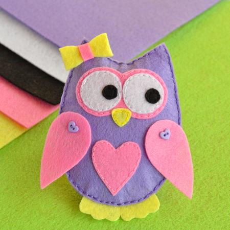 Cute felt owl toy, sewing crafts