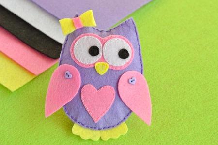 mamma: Soft toy felt owl, sewing, handmade crafts