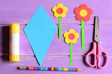 Making paper crafts for mothers day or birthday step paper making paper crafts for mothers day or birthday step paper flowers scissors mightylinksfo