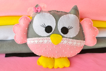 scissors: Felt owl - handmade toy