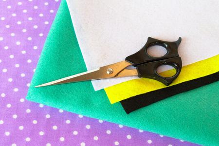 Set of sewing items - handmade felt green bear set