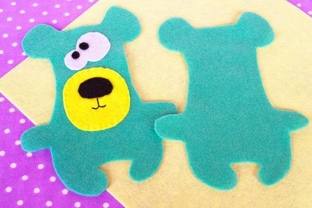 수제 느낌의 녹색 곰 세트