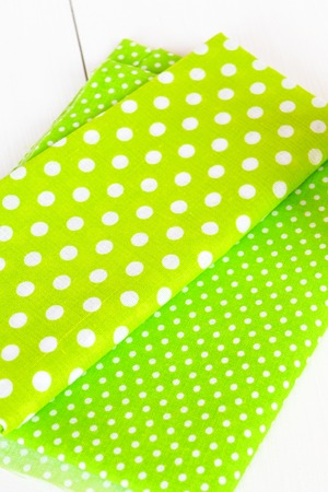 Pieces of green fabric