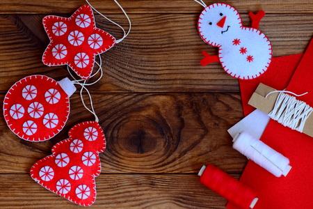 Christmas Crafts To Make At Home Felt Star Christmas Tree Stock