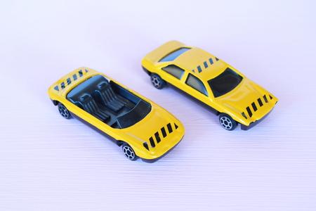 Children yellow cars toys photo