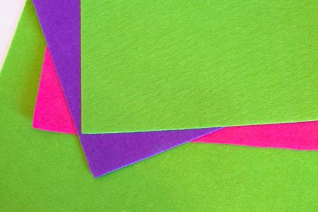 Felt sheets set. Color felt sheets set. Felt sewing kit