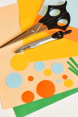 Set for creativity. How to make paper crafts Stock Photo