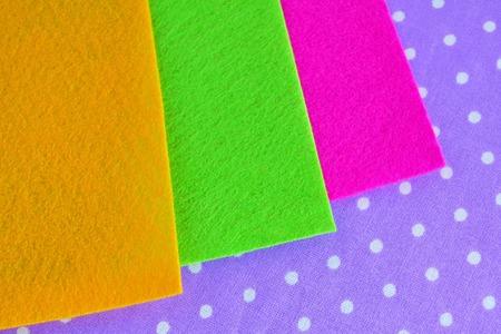 A set of felt photo sheets. Multicolored felt sheets. Set for creativity