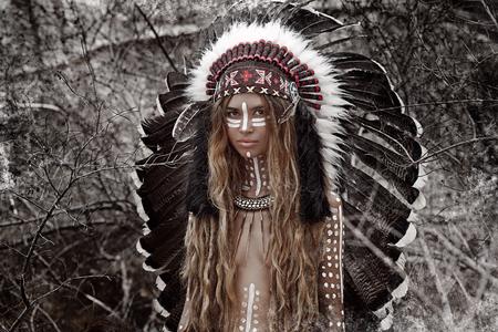 aboriginal woman: Indian woman hunter