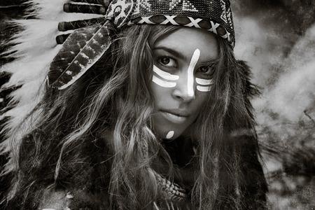 인도 여자 사냥꾼 스톡 콘텐츠