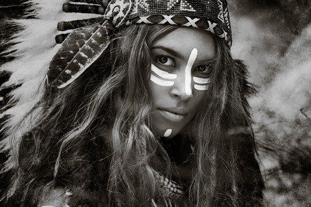 native american indian: Indian woman hunter