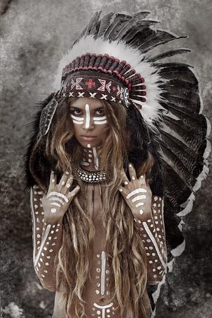 Indiánka hunter Reklamní fotografie