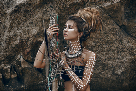 aboriginal woman: african style woman
