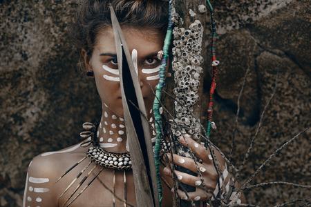아프리카 스타일의 여성 스톡 콘텐츠