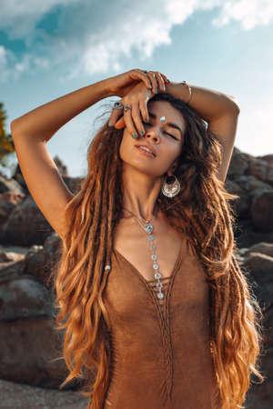 beautiful young woman having fun at the beach Reklamní fotografie