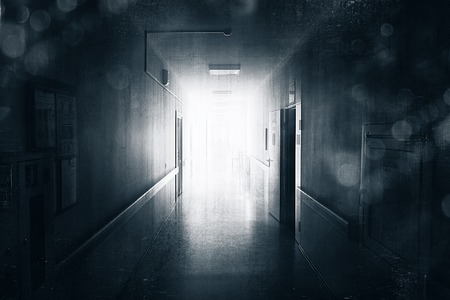 corridors: Dark corridor Stock Photo
