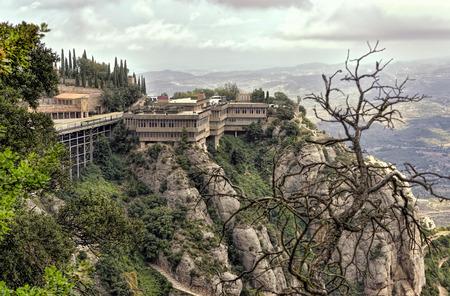 montserrat: Montserrat Mountain. Stock Photo