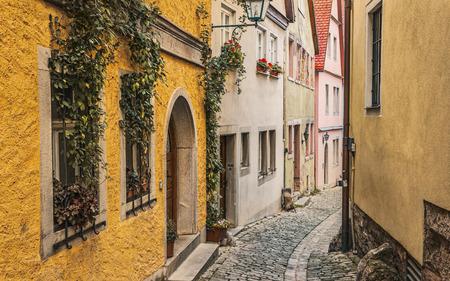abode: Narrow street. Rothenburg, Germany.