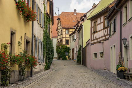 Old street. Rothenburg, Germany.