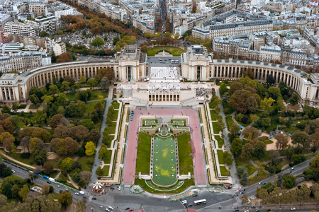 megapolis: Paris. View from the Eiffel tower.