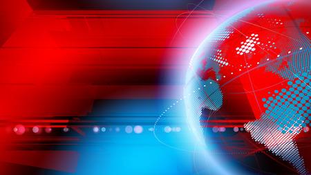 Wereld nieuws concept. Stockfoto