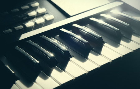 Electronic keyboard.