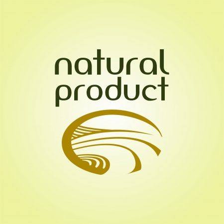 Natural product logo Stock Vector - 16931048