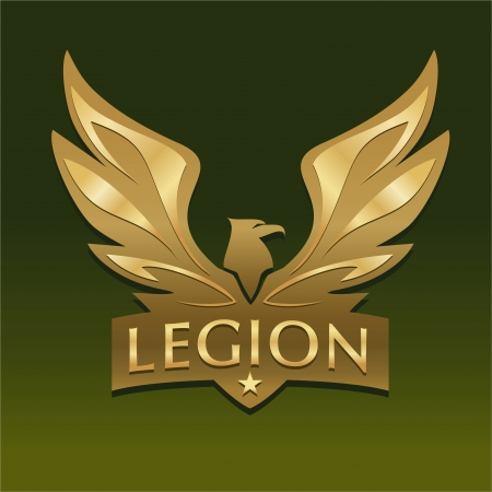 Logo with eagle