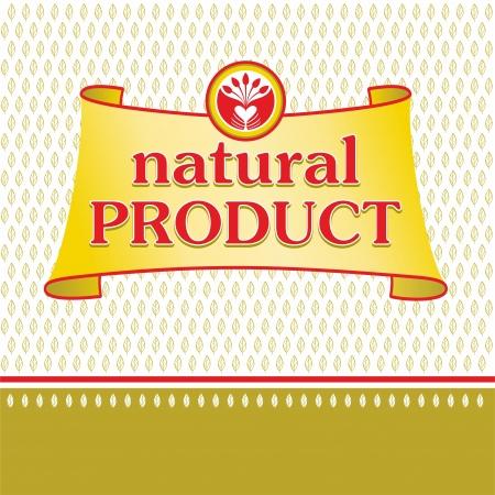 productos naturales: Ilustraci�n de los productos naturales Vectores