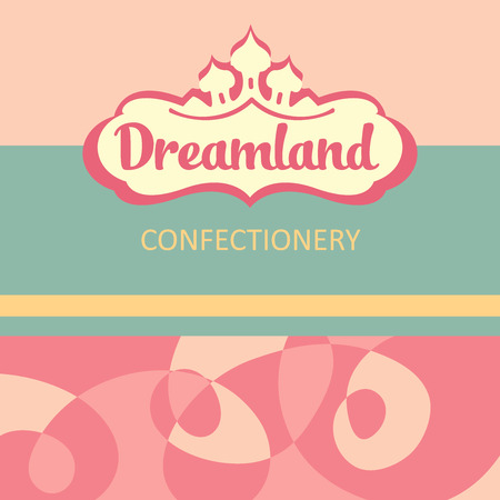 dreamland: Vector icon and design elements for the confectionery. dreamland. Illustration