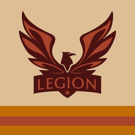 halcones: Vector logo con una imagen de un �guila. Legi�n. Vectores