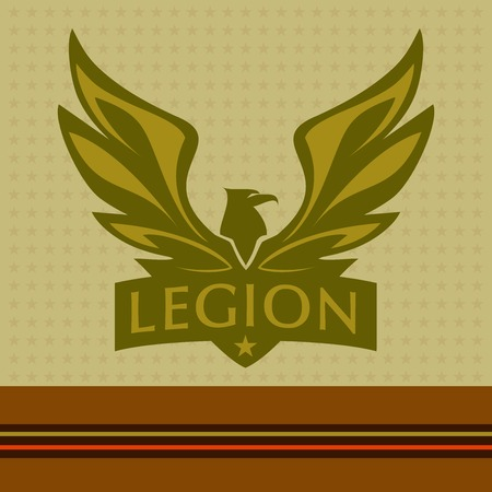 wings logos: Vector logo with a picture of an eagle. Legion.
