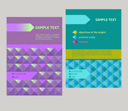 Vector design cover, flyer geometrical abstract pattern. Illustration