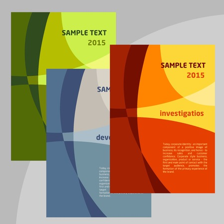 Set of Vector Poster Templates A4. Abstract Background for Business Documents. Vector
