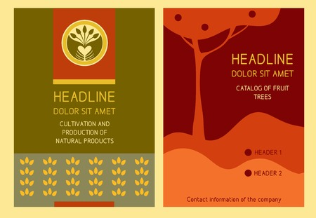Brochure Flyer design vector template in A4 size. Red abstract background Vector