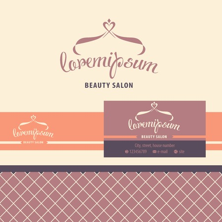 salon background: Vector logo, business card, identification for beauty salon. hairdresser