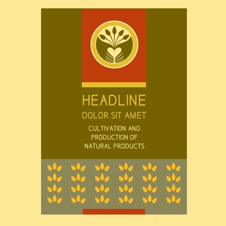 Brochure Flyer design vector template in A4 size. Crop. Agriculture.